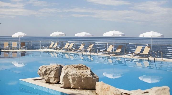 Uitzicht op de Adriatische zee