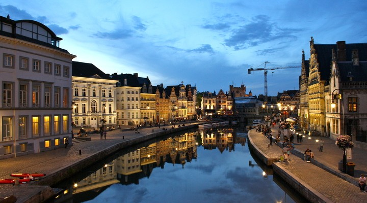 Graslei, Korenlei Gent Belgie