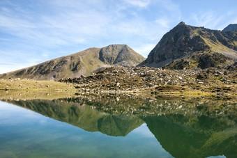 Landschap met meer in Andorra