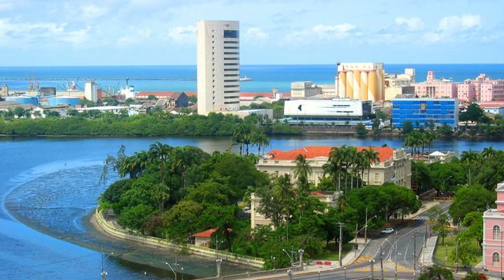 Uitzicht op de stad Recife