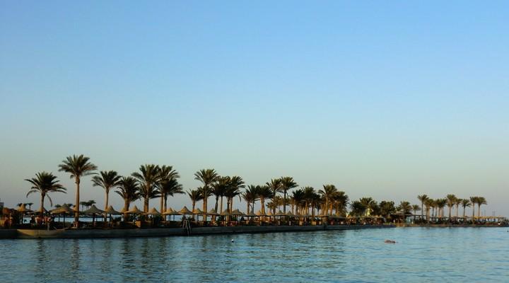 Strand Hurghada, zonvakantie Egypte