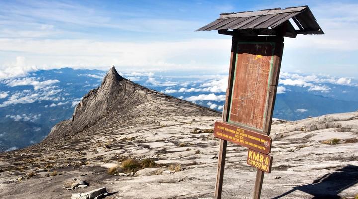 Checkpoint tijdens de beklimming van Mount Kinabalu