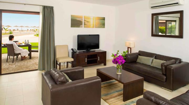 Woonkamer van Villa met vier slaapkamers
