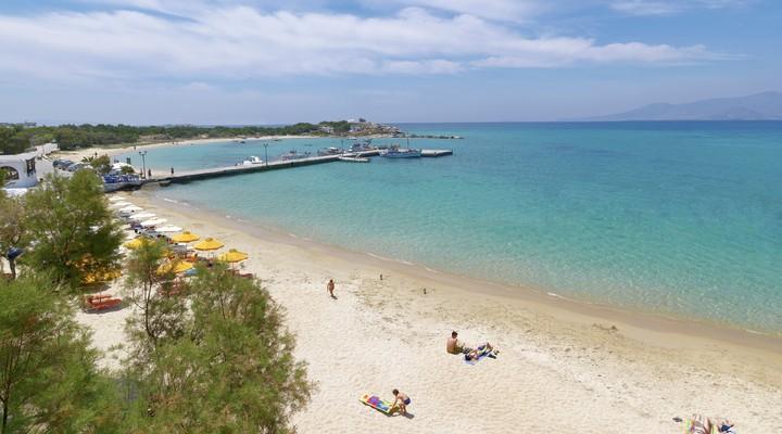 Strand van Naxos, Griekenland