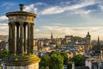 Uitzicht over Edinburgh, Schotland