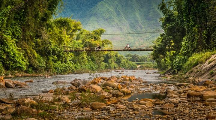 Het landschap in Vietnam
