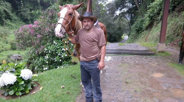 Paardrijden bij de lodge