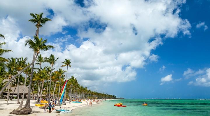 Strand Punta Cana op de Dominicaanse Republiek