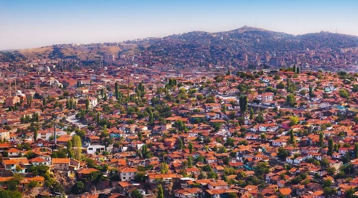 Uitzicht op de stad Ankara, Turkije