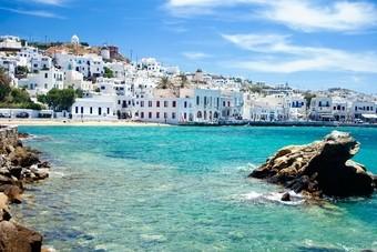 Kustlijn Mykonos - Griekenland