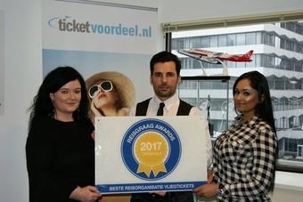 Ticketvoordeel wint Reisgraag Award 2017
