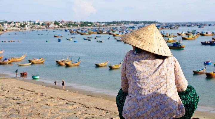 Het strand van Mui Ne