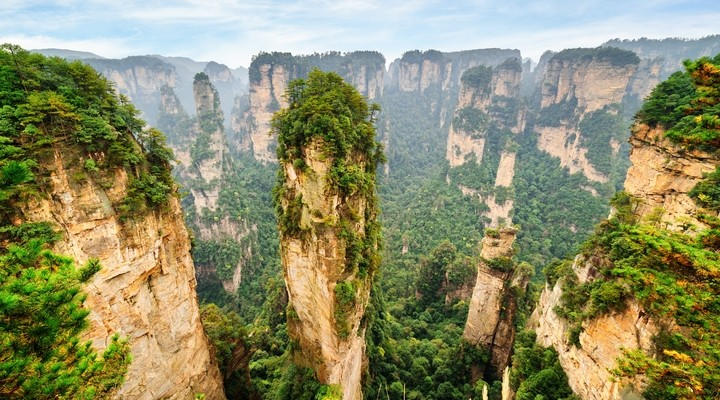 De Tianzi Mountains in Zhangjiajie Nationaal Park