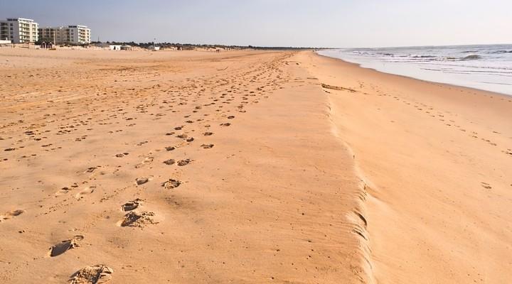 Strand van Monte Gordo, Portugal