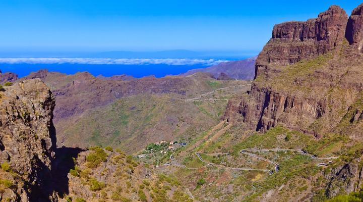Ruige landschap van de kloof van Masca, Tenerife
