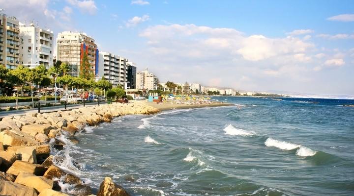 Strand Limassol, badplaats Cyprus