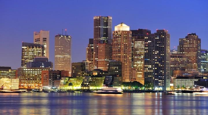 Skyline Downtown Boston, Amerika