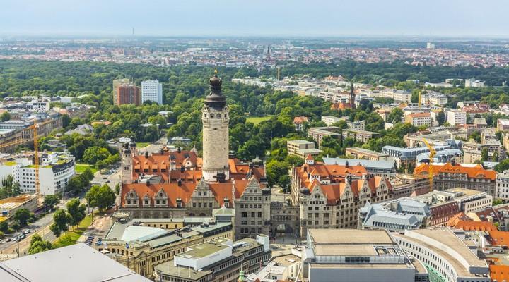 De stad Leipzig