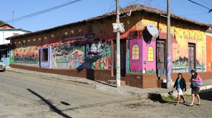 Ataco muurschildering in San Salvador