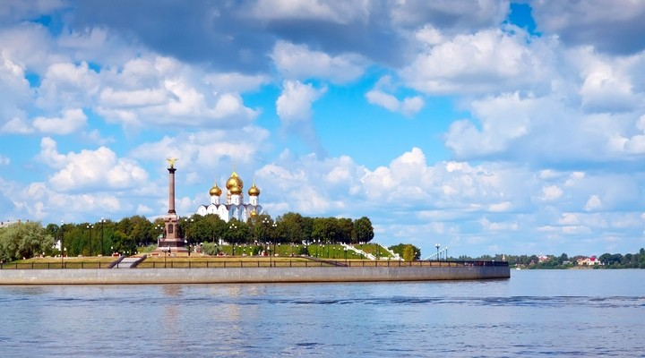 Zomer in Yaroslavl, Wolga en Kotorosl, Rusland