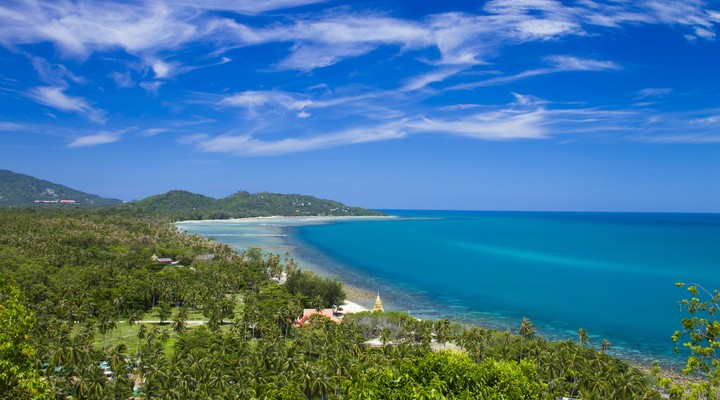 Tropisch strand Koh Samui, Thailand