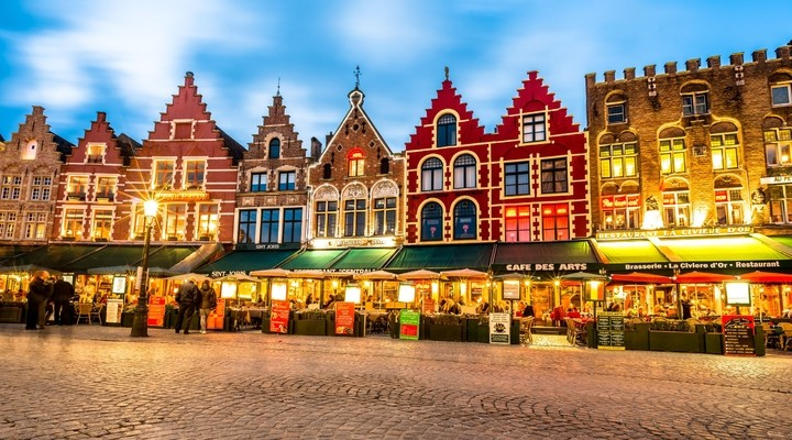 Centrum Brugge, markt, Belgie