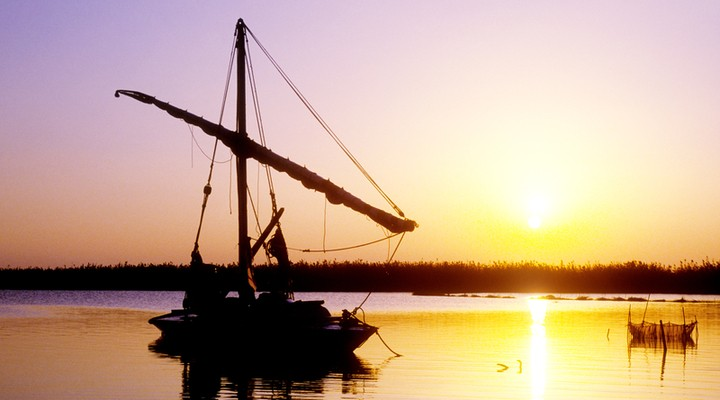 Faluca bootje Port Said Egypte