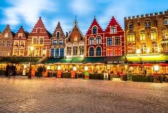 Centrum van Brugge, België