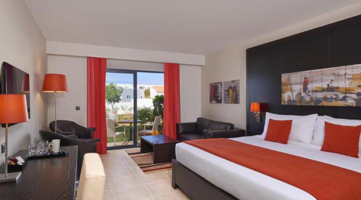 Slaapkamer van Tweepersoonskamer met Terras