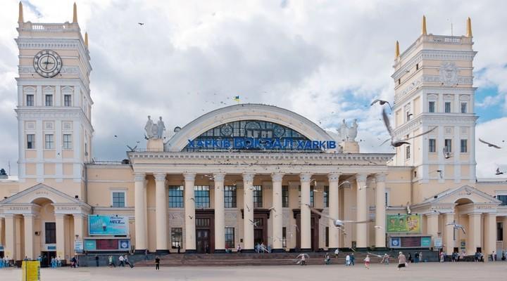 Stationsgebouw Charkov, Oekraine