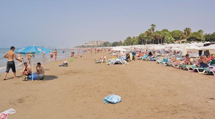 De stranden van Side, Turkije