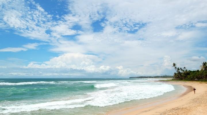 Benota strand in Sri Lanka