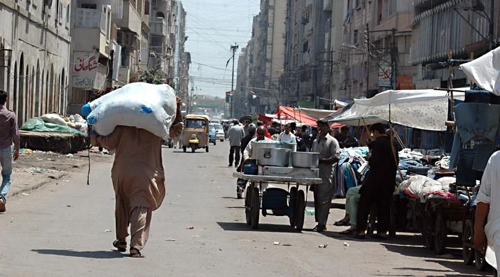 De straten van Karachi, Pakistan