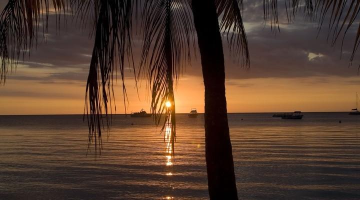 Zonsondergang Negril in Jamaica
