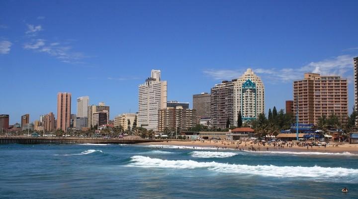 Kustlijn Durban Zuid-Afrika