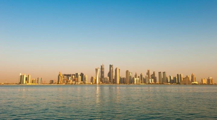Skyline hoofdstad Qatar Doha