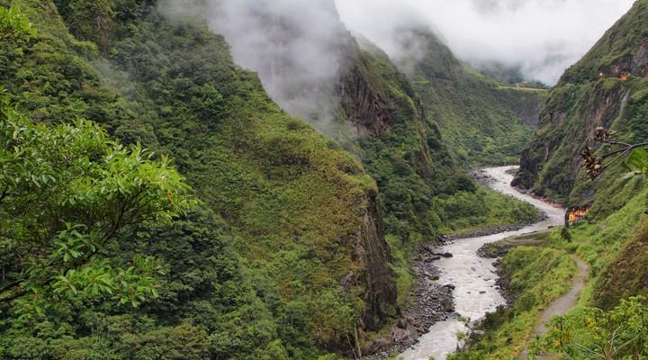 De rivier bij Puyo