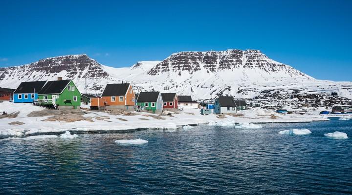 Qeqertarsuaq, kleine stad van Noord-Groenland