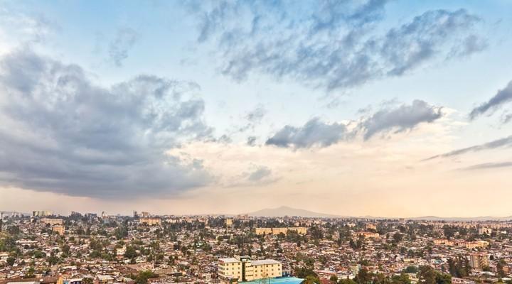 Uitzicht op Addis Abeba