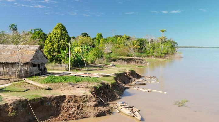 Iquitos ligt in het Amazonegebied van Peru