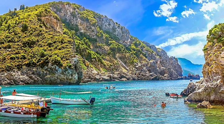 Het Griekse eiland Corfu