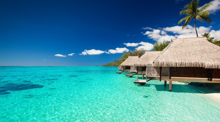 Waterbungalows op de Malediven