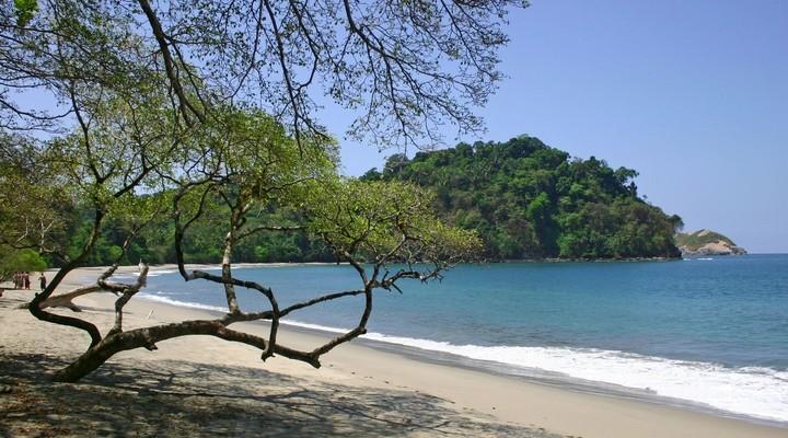 Strand met mooie natuur in Costa Rica