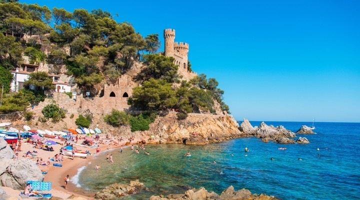 Kustlijn Lloret de Mar - Spanje