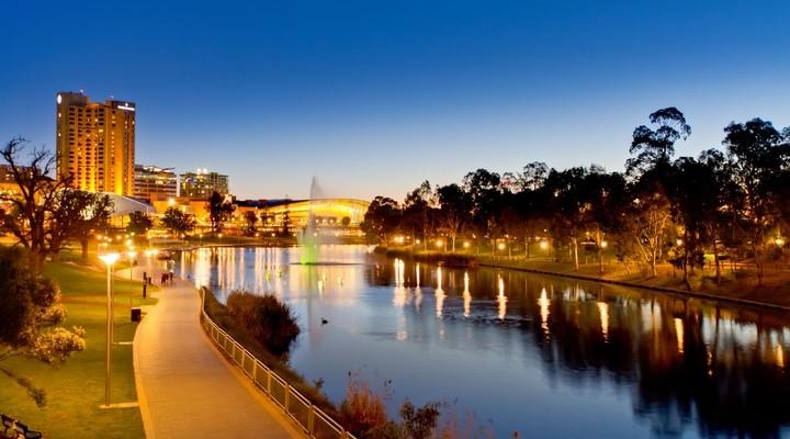 Uitzicht op Adelaide - Australië