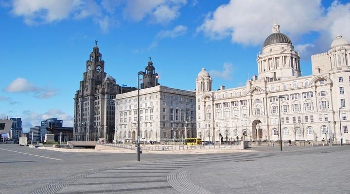 Gebouwen in Liverpool in Engeland