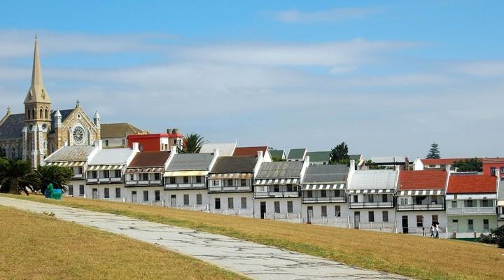 Donkin huizen Port Elizabeth Zuid-Afrika