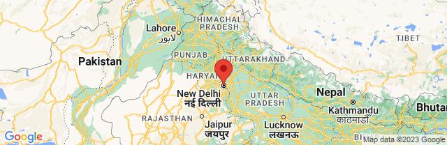 Landkaart New Delhi