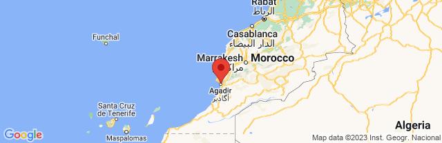 Landkaart Agadir