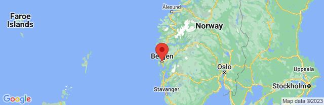 Landkaart Bergen